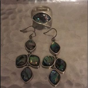 Lucky Brand ring and earring set